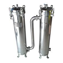 Équipement duplex de traitement de l'eau de logement de filtre de sac-sac