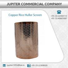 Durable Cobre arroz Huller pantalla disponible en especificaciones personalizadas