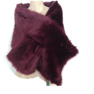 Señoras calientes del cabo de la piel del visión de las mujeres de la venta / de la alta calidad Las últimas señoras del invierno de la manera del invierno falsifican la bufanda que hace punto de los mantones de la piel