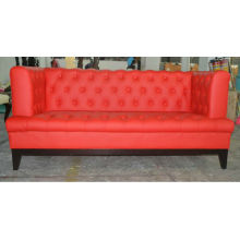 Red leather office hotel sofa XYN50