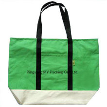 100% Organic Promotion Silk Print Messenger Cotton Bag