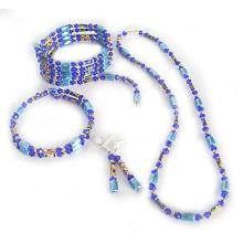 Hematite Set Powder Blue Jewelry