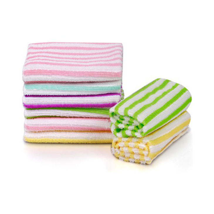 Microfiber Color Strip Cleaning Towel 1