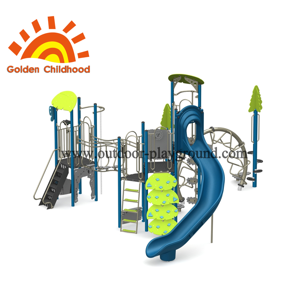 Outdoor Playground Equipment Blue