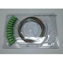 12 цветных волоконно-оптических кабеля длиной 0,9 мм с разъемом Sc / APC
