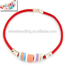 All match candy color rope choker necklace