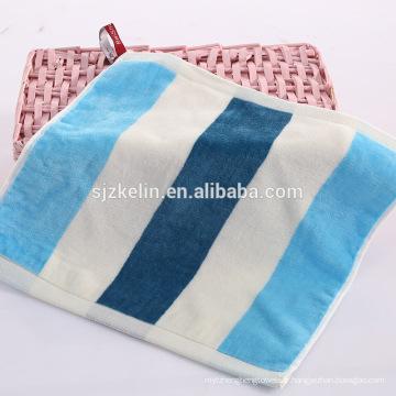 Usine en gros fil dyed100% coton velours petit visage serviette usine en gros fil teint en coton velours petit visage serviette