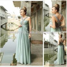 New style en mousseline de soie fabriqué à la mode style longueur usine vendent directement robes soirée