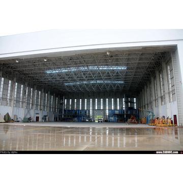 Le hangar préfabriqué incurvé par zinc de toit d'aéroport a préfabriqué le hangar