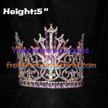 Crystal Queen Pageant couronnes avec diamant violet