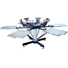 6 color 6 station t-shirt manual screen printing machine with micro registration for sale