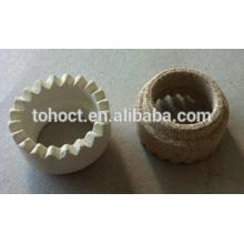 Cerda de cerámica de la cordierita de Brown / Yellow / White de la soldadura para los pernos de soldadura
