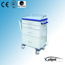 Epoxy beschichtetes Stahl Krankenhaus Medical Reanimation Trolley / Cart (N-20)