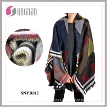 2016 Fashion Colorful Geometry Bohemia Imitate Cashmere Scarf Shawl