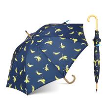 На сертифицированном заводе пользователя банан Лореаль печати прямая деревянная ручка крюк прямой зонтик