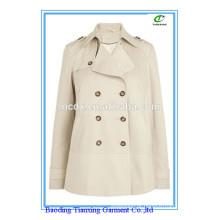 Primavera Calça quente marca bege casaco curto senhoras