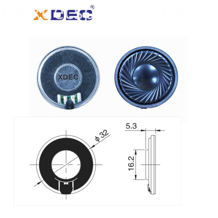 32mm miniature mylar speaker with 8ohm 0.5w