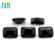 octagon clear cubic zirconia black gemstone names