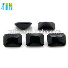 nomes de gemstone pretos do zirconia cúbico claro octagon