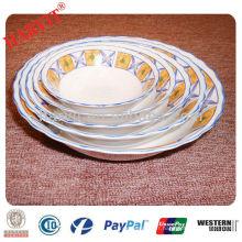 Ensemble de saladier en porcelaine coupé