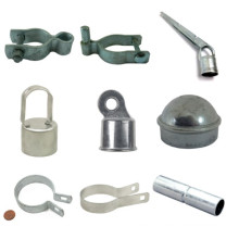 Chain link fence tension band, post cap, chain link fence accessories fittings parts single support arm