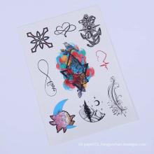 9cmx21cm Tattoo Ink Custom Women Body Tattoo Sticker,Floral Temporary Tatoo Sticker