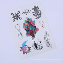 Etiqueta feita sob encomenda da tatuagem do corpo das mulheres da tinta da tatuagem de 9cmx21cm, etiqueta provisória floral de Tatoo