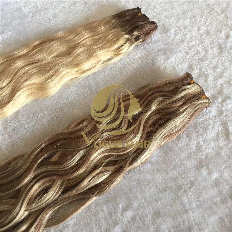 Hand tied wefts hair