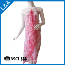 Printed Polyester Georgette Chiffon Scarf Beach Dress