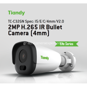 4MP Tiandy TC-C34GN Bullet CCTV Camera με POE