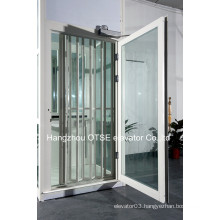 Folding sightseeing doors for elevators