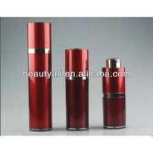 Красная косметическая безвоздушная бутылка