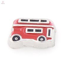 Новый стиль Винтаж красный автобус подвеска подвески, круглый плавающей медальон подвески