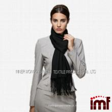 100% fino liso lenço de lã Mercerized feito sob encomenda