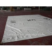white PVC tarpaulin