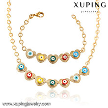 64021 Xuping fashion gold plated women necklace jewelry set