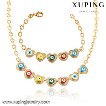64021 Xuping fashion gold plated women necklace jewelry set