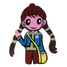 Little Girl Chenille Bordado Patches Para Jaqueta