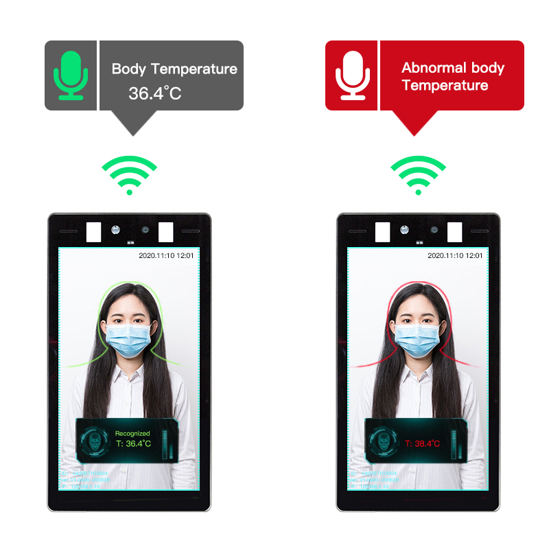 Face Recognition with Thermometer Terminal