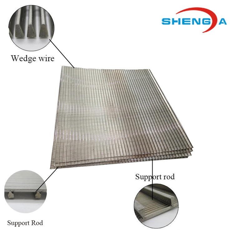 stainless steel wedge wire Rectangle Sieve Plate1