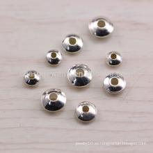Sef023 50pc / lot s925 Los accesorios de la plata esterlina venden al por mayor los accesorios diy de plata tailandeses de los granos diy hechos a mano rebordeados con la pulsera