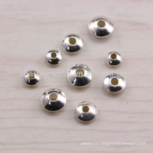 sef023 50pc/lot s925 Sterling silver accessories wholesale Thai silver spacer beads diy fittings handmade beaded with bracelet
