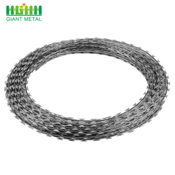 Harga Rendah Galvanized Concertina Razor Barbed Wire