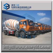 10 M3 8X4 North Benz Concrete Mixer Drum Truck