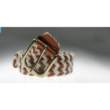 Fashion waxed cord with PU strap knitted belts-KL0034