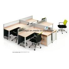Bureau de bureau de 4 personnes Meuble de poste de travail
