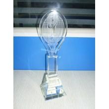 Crystal Trophy с дизайном для бадминтона