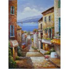 Pinturas a óleo mediterrâneas pintadas à mão