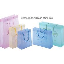 Sacos de compras plásticos relativos à promoção da forma com punho da corda (saco do presente)
