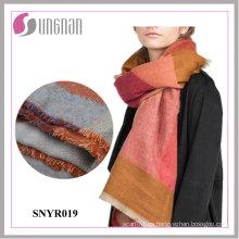 2015 último invierno colorido geometría imitar cachemir bufanda de las mujeres chal